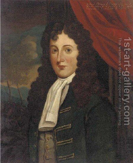 Portrait of Michael Grace of Gracefield (d.1760) by (after) Robert Edge Pyne - Reproduction Oil Painting