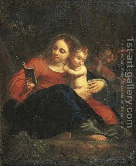 The Madonna and Child 3 by (after) Simon Vouet - Reproduction Oil Painting
