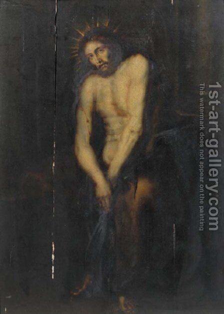 Christ as the Man of Sorrows by (after) Dyck, Sir Anthony van - Reproduction Oil Painting