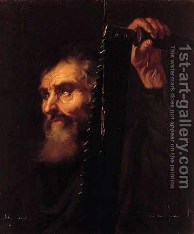 Saint Simon Zealot by (after) Dyck, Sir Anthony van - Reproduction Oil Painting