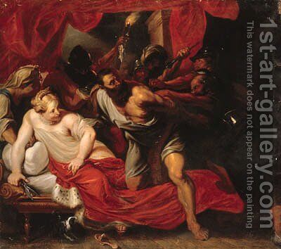 Samson and Delilah by (after) Dyck, Sir Anthony van - Reproduction Oil Painting