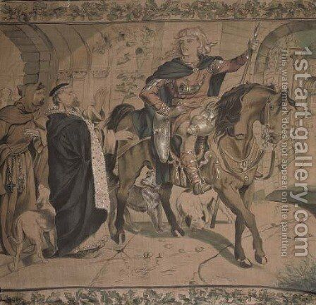 The Departing Knight by (after) Sir Edward Coley Burne-Jones - Reproduction Oil Painting
