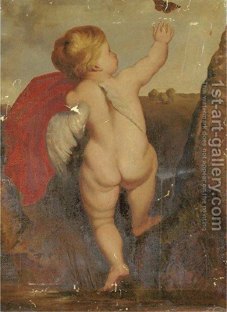 A putto by (after) Sir Peter Paul Rubens - Reproduction Oil Painting