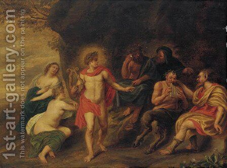 Apollo and Marsyas by (after) Sir Peter Paul Rubens - Reproduction Oil Painting