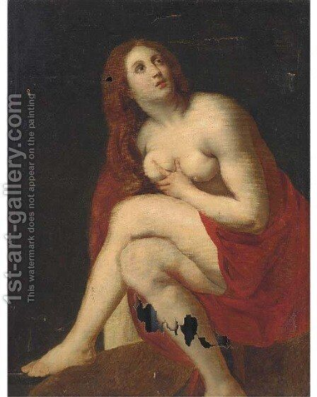 Saint Mary Magdalen by (after) Sir Peter Paul Rubens - Reproduction Oil Painting