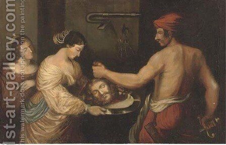 Salome with the head of Saint John the Baptist by (after) Sir Peter Paul Rubens - Reproduction Oil Painting