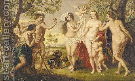 The judgement of Paris 2 by (after) Sir Peter Paul Rubens - Reproduction Oil Painting