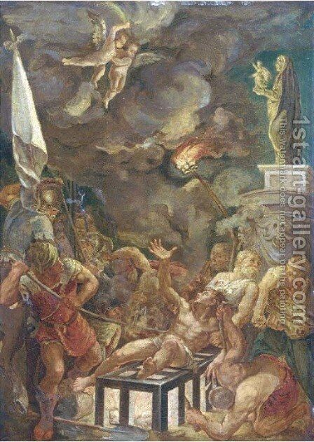 The Martyrdom of Saint Lawrence by (after) Sir Peter Paul Rubens - Reproduction Oil Painting