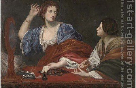 An allegory of Vanity by Theodoor Rombouts - Reproduction Oil Painting