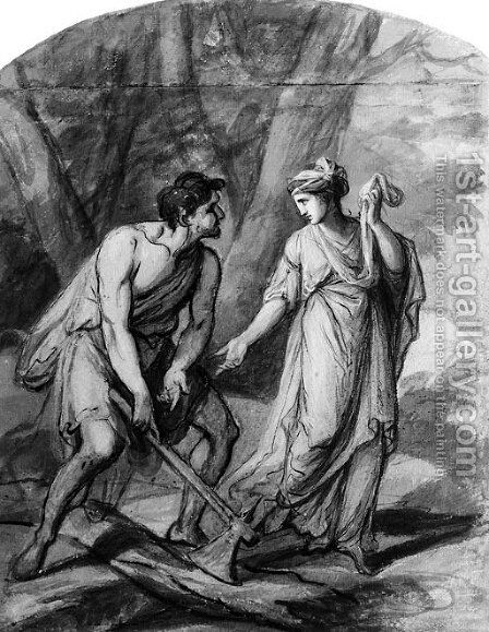 Calypso and Ulysses by Angelica Kauffmann - Reproduction Oil Painting