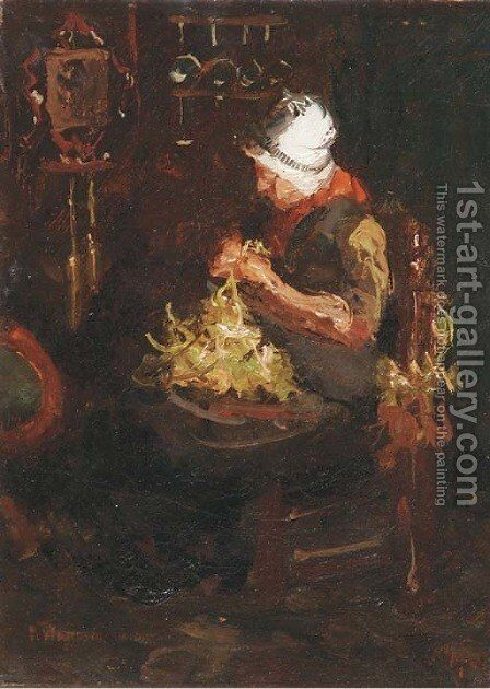 Busy hands by Marie Wandscheer - Reproduction Oil Painting