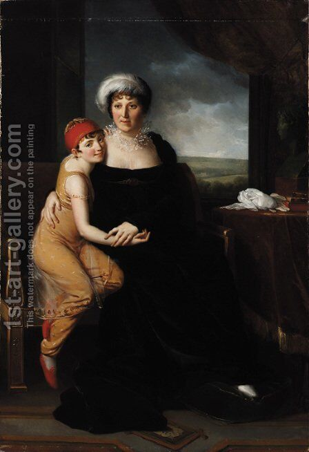 Portrait of Madame Campan (1752-1822) by Marie-Eleonore Godefroy - Reproduction Oil Painting