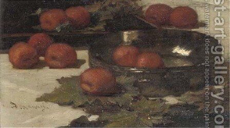 Apricots by Marinus Van Der Maarel - Reproduction Oil Painting