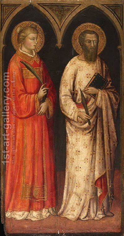 Saints Stephen and Bartholomew by Mariotto Di Nardo - Reproduction Oil Painting