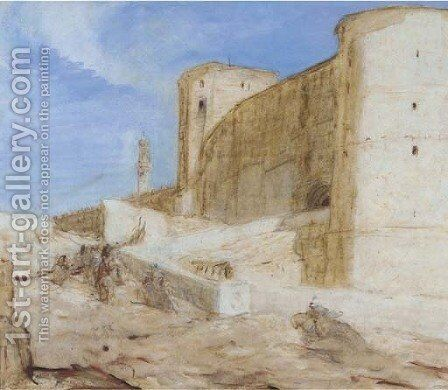 Citadel te Cairo by Marius Bauer - Reproduction Oil Painting