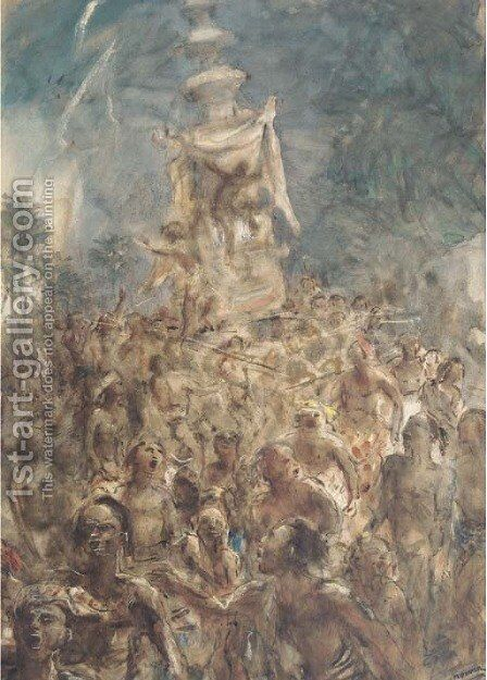 Religious procession by Marius Bauer - Reproduction Oil Painting