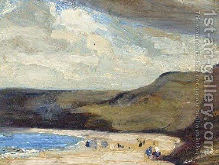 Runswick Bay by Mark Senior - Reproduction Oil Painting
