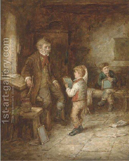 The mischievous schoolboy; and A question for grandma by Mark W. Langlois - Reproduction Oil Painting
