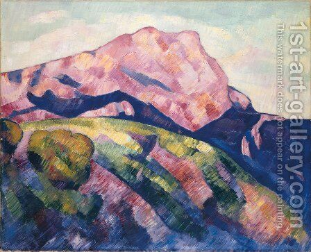 Mont Sainte-Victoire by Marsden Hartley - Reproduction Oil Painting