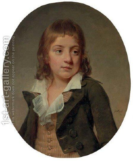 Portrait of a young boy by Martin Drolling Oberbergheim - Reproduction Oil Painting