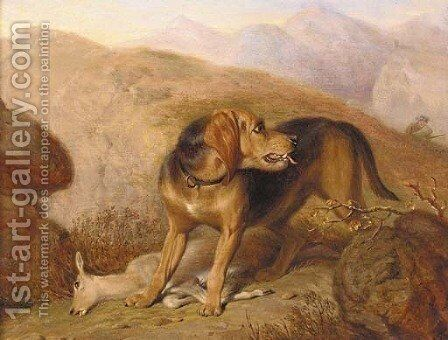 Retrieving the Kill by Martin Theodore Ward - Reproduction Oil Painting