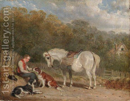 The Midday Rest by Martin Theodore Ward - Reproduction Oil Painting