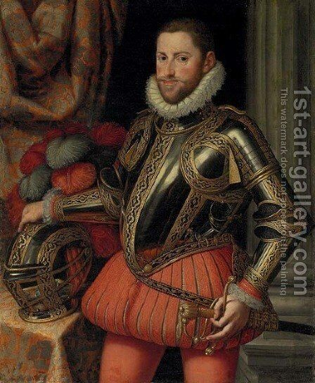 Portrait of Archduke Ernst of Austria by Martino Rota Dalmatia - Reproduction Oil Painting