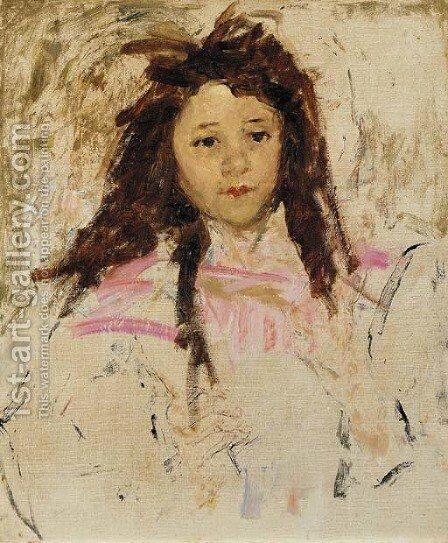 Agnes, age six by Mary Cassatt - Reproduction Oil Painting