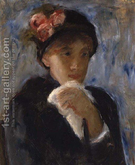 La femme au mouchoir by Mary Cassatt - Reproduction Oil Painting