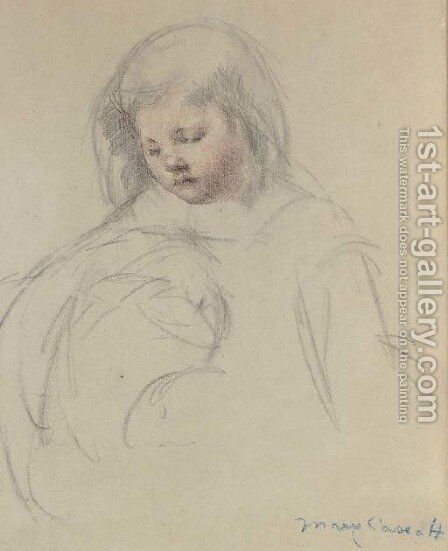 Sketch for 'Sara...Feeding Her Dog' by Mary Cassatt - Reproduction Oil Painting