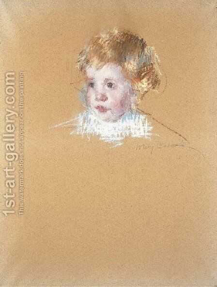 Study for the portrait of a child by Mary Cassatt - Reproduction Oil Painting