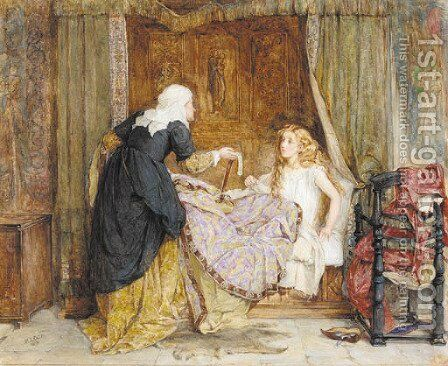 The missing belt by Mary L. Gow - Reproduction Oil Painting