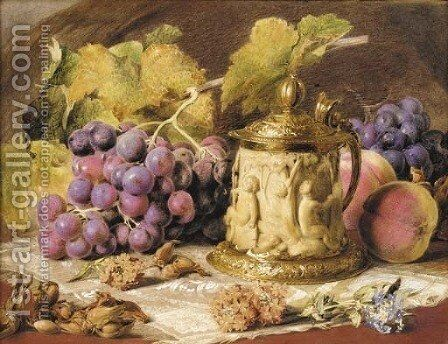 Bacchanalian cup with grapes by Mary Margetts - Reproduction Oil Painting