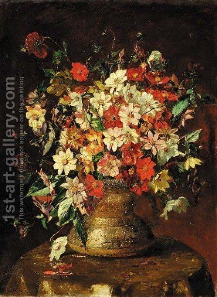An opulent bouquet by Mary Rischgitz - Reproduction Oil Painting