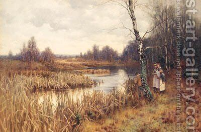 The Birch Pool by Mary S. Hagarty - Reproduction Oil Painting