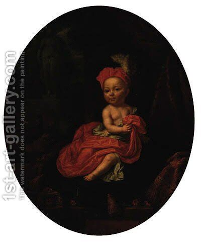 Portrait of a child by Mathaeus Verheyden - Reproduction Oil Painting