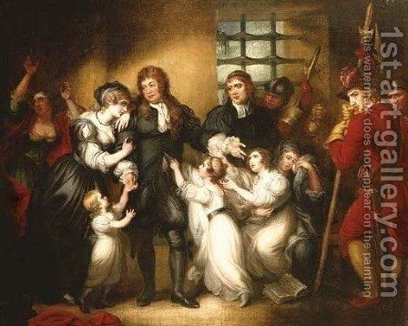 Lord William Russell with his family before his execution by Mather Brown - Reproduction Oil Painting