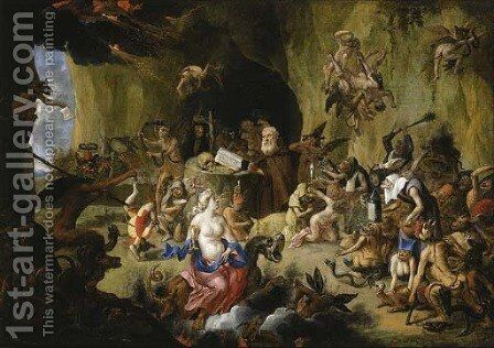 The Temptation of Saint Anthony by Matheus van Helmont - Reproduction Oil Painting