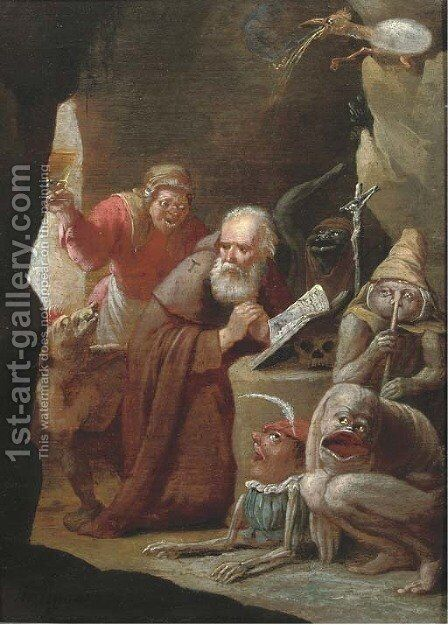 The Temptation of Saint Anthony 2 by Matheus van Helmont - Reproduction Oil Painting