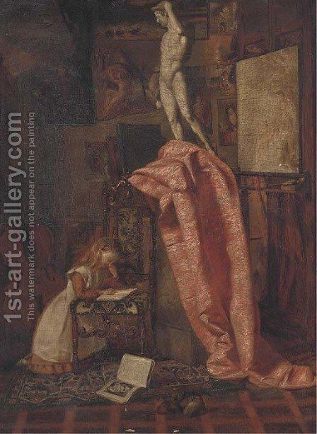 The artist's apprentice by Matthew Ridley Corbet - Reproduction Oil Painting