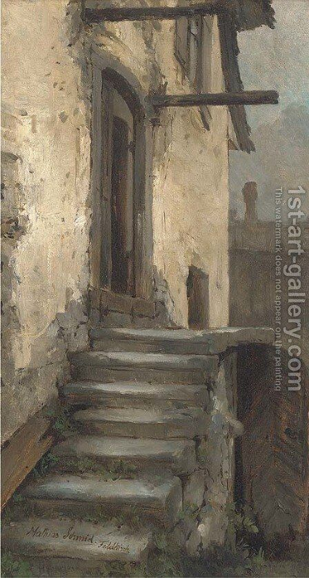 A town house, Foldkirch by Matthias Schmid - Reproduction Oil Painting