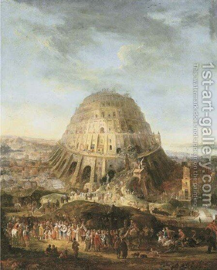 The Tower of Babel by Mathys Schoevaerdts - Reproduction Oil Painting
