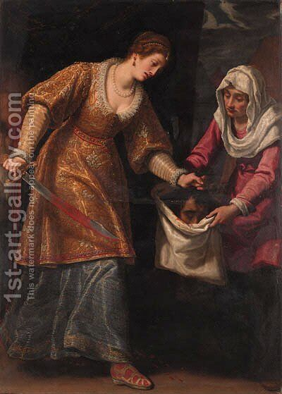 Judith and Holofernes by Matteo Rosselli - Reproduction Oil Painting