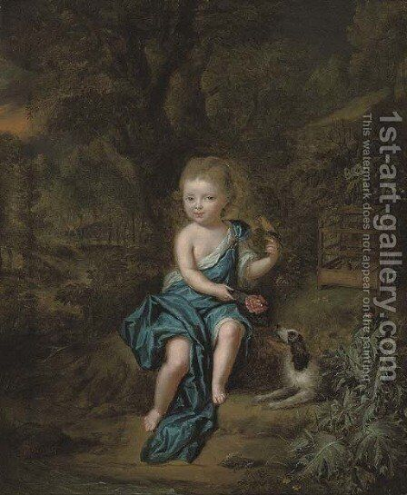 Portrait of a young boy by Mattheus Verheyden - Reproduction Oil Painting