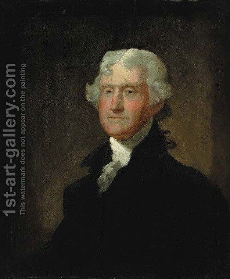 Portrait of Thomas Jefferson by Matthew Harris Jouett - Reproduction Oil Painting