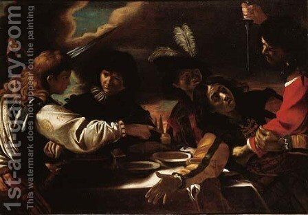 The Feast of Absalom 2 by Mattia Preti - Reproduction Oil Painting