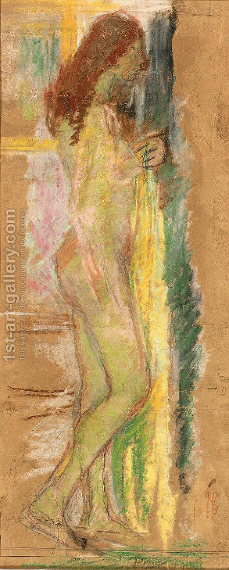Standing Nude with Red Hair by Maurice Brazil Prendergast - Reproduction Oil Painting