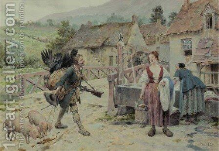 A poacher peddling his ill-gotten gains by Maurice Leloir - Reproduction Oil Painting