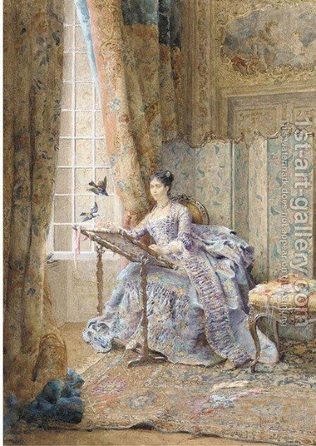 The feathered visitors by Maurice Leloir - Reproduction Oil Painting