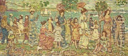 Promenade 2 by Maurice Brazil Prendergast - Reproduction Oil Painting
